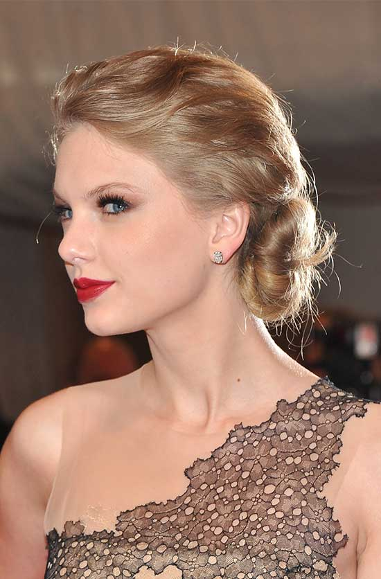 Taylor Swift Updo for Long hair