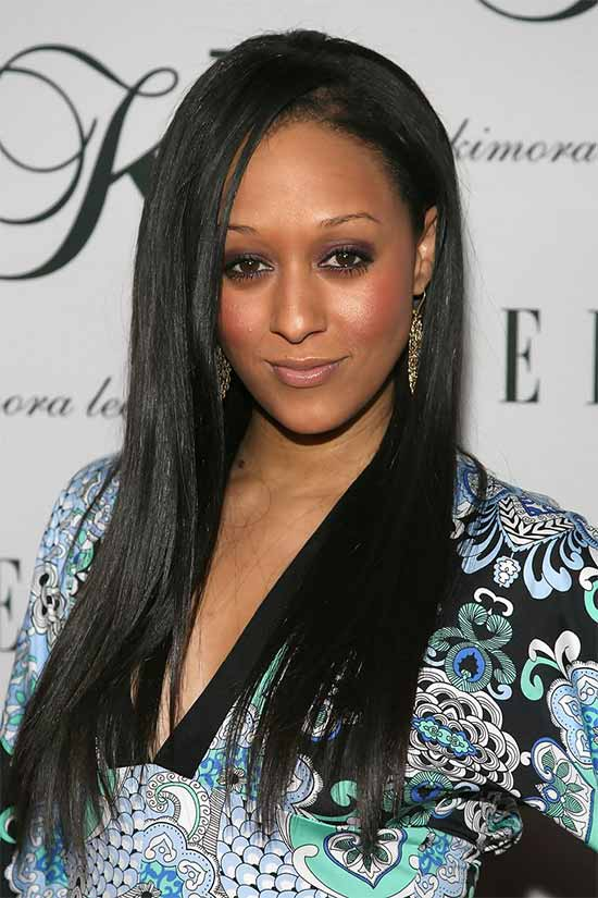 Tia+Mowry Long Hairstyle for Black Women