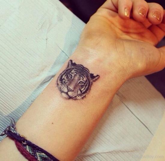 Tiger Tattoo On Wrist