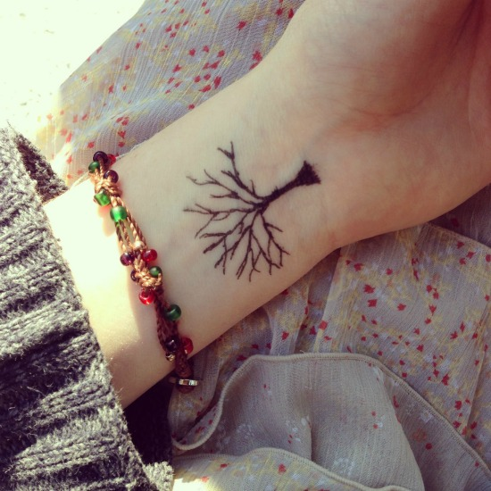 Tree Wrist Tattoo Design