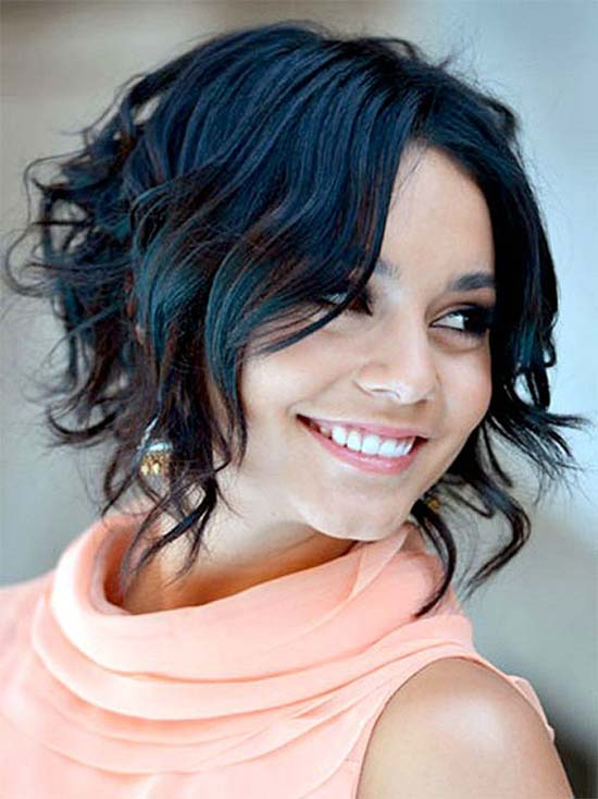 Vanessa-Hudgens Curly Hairstyle For Short Fine Hair