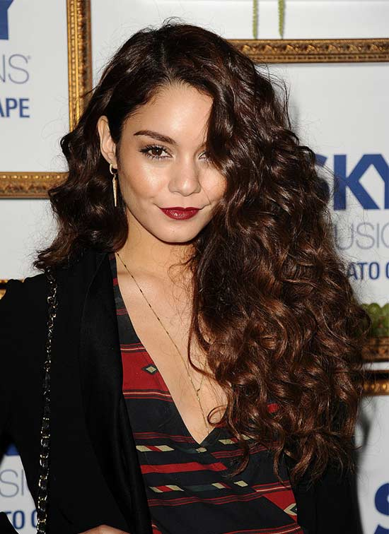 Vanessa Hudgens Long Curly Hair Styles