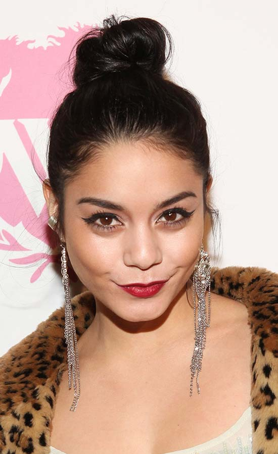 Vanessa Hudgens top knot hair style