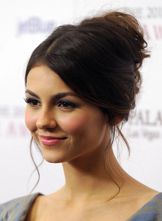 Victoria Justice French Twist Updo Hairstyle for Prom