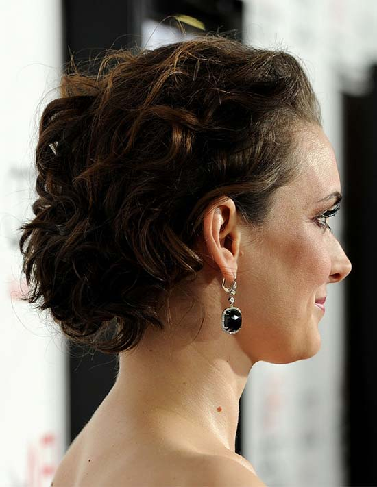Winona Ryder Updos For Medium Hair