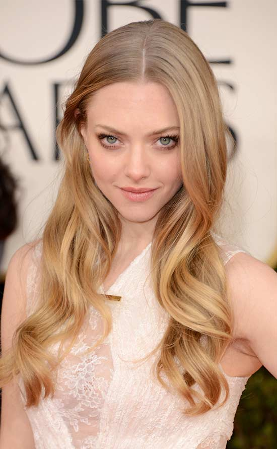 amanda-seyfried Long hair style for round Face