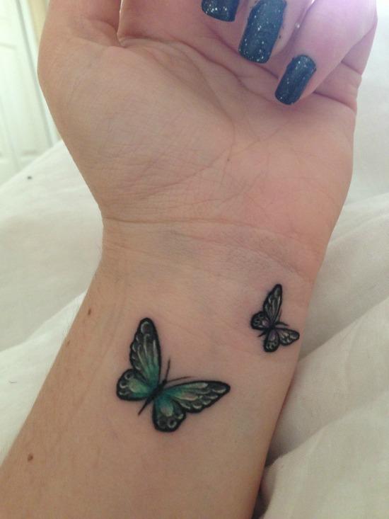 butterfly tattoo on wrist