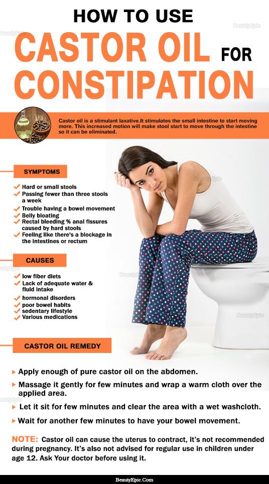 castor oil for constipation