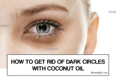 coconut oil for dark circles under eyes