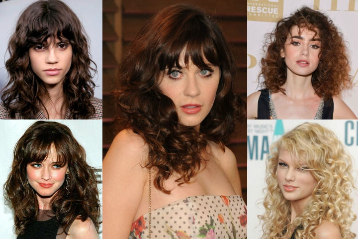 Top 20 Curly Hair with Bangs Hairstyle Ideas to Try