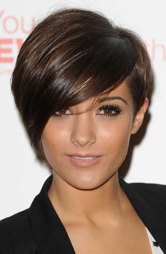 frankie sandford shot fringe haircut