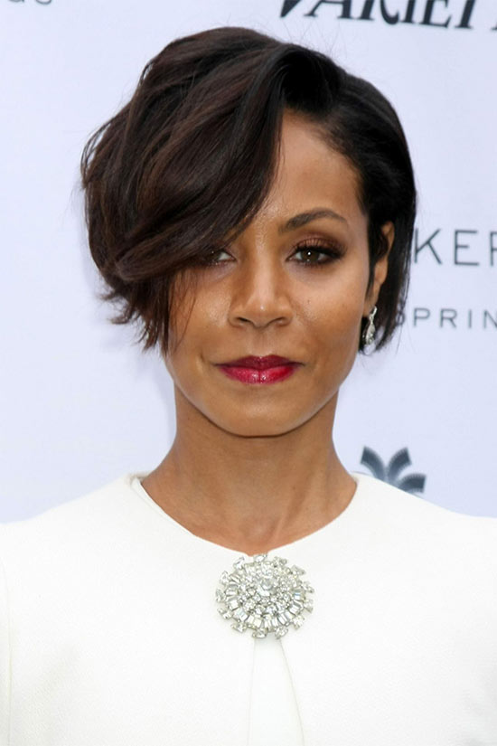 jada pinkett smith Wavy Pixie Cut Red Hair