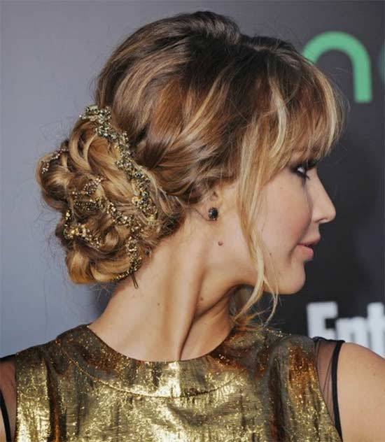 jennifer lawrence Elegant Prom Updos Hairstyles
