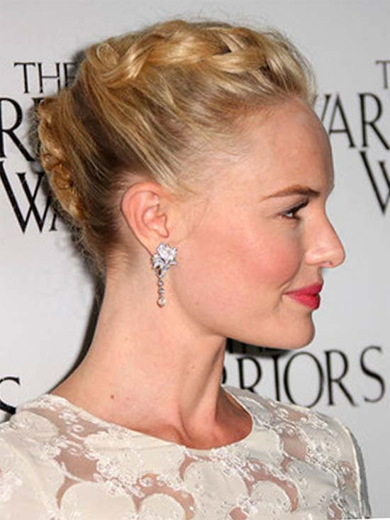 kate bosworth braided French Twist Hairstyles