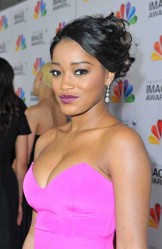 keke-palmer messy Updo for long hair
