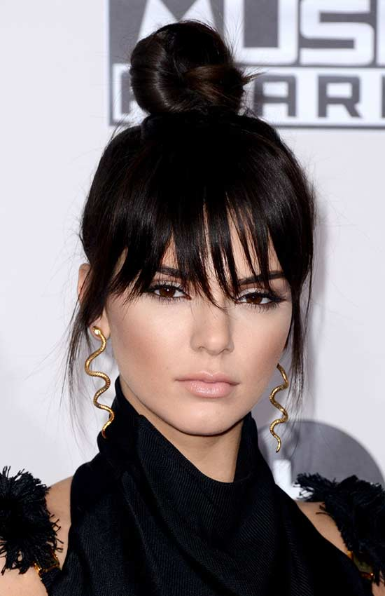 kendall jenner messy Updo for long hair