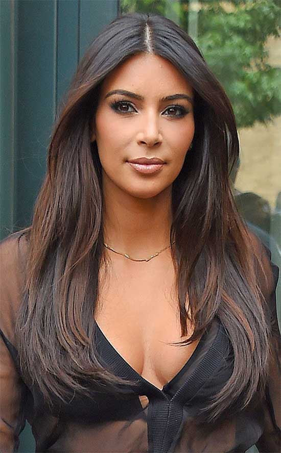 kim kardashian Long Straight Hair