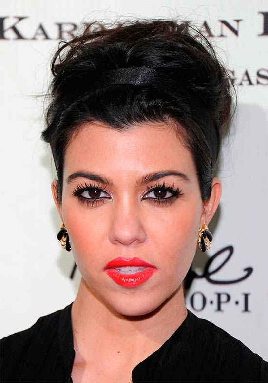 kourtney kardashian Prom Updo Hairstyle
