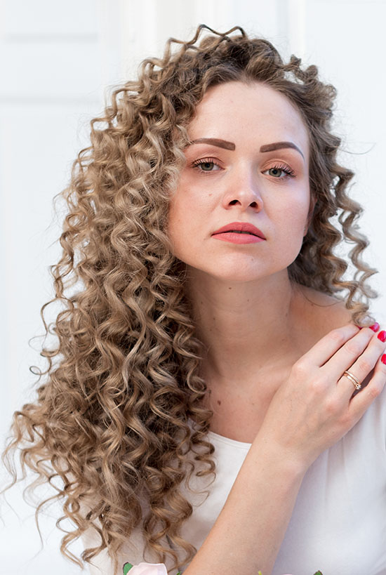 long braided curly hairstyle