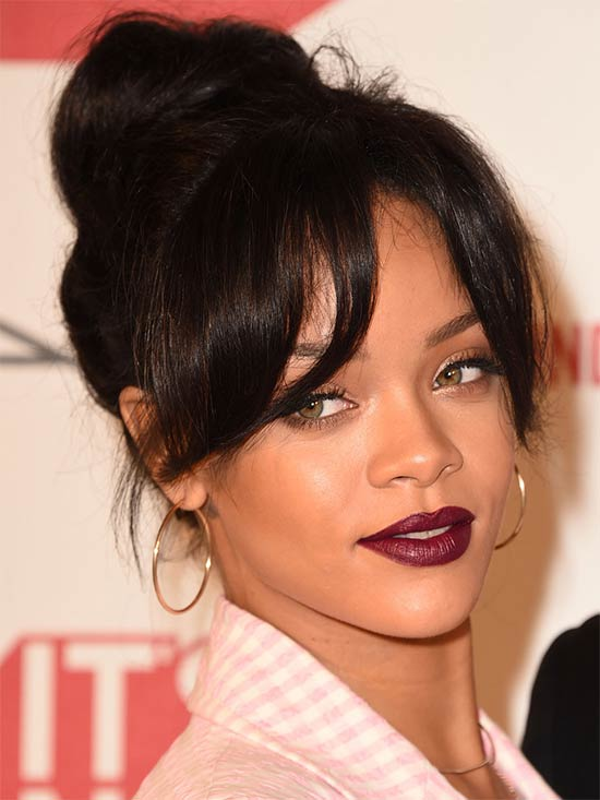 rihanna Updo for Long hair