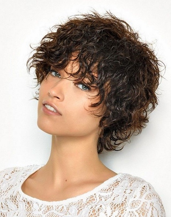 short curly shaggy hairstyle