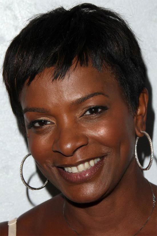 vanessa bell calloway Straight Black Hairstyle With Short Bangs