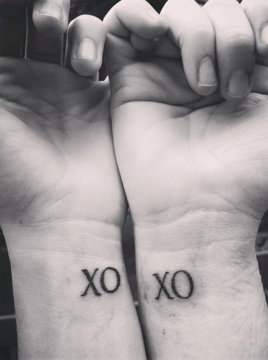 xoxo wrist tattoo