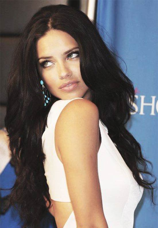 Adriana Lima Long-Wavy-Hair