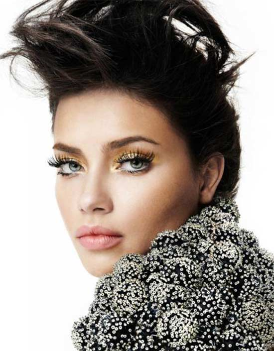 Adriana Lima Mega-Hair-Style