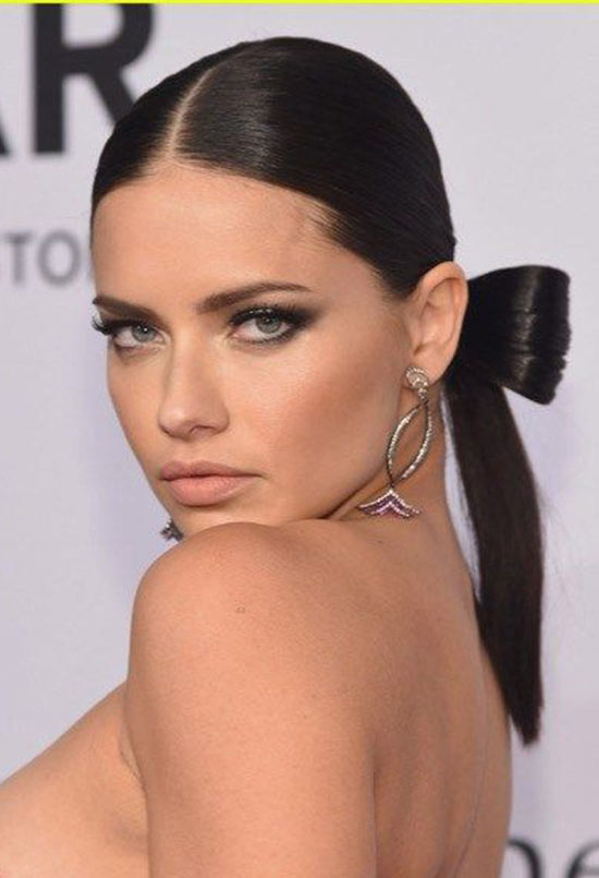 Adriana Lima Romantic Hair