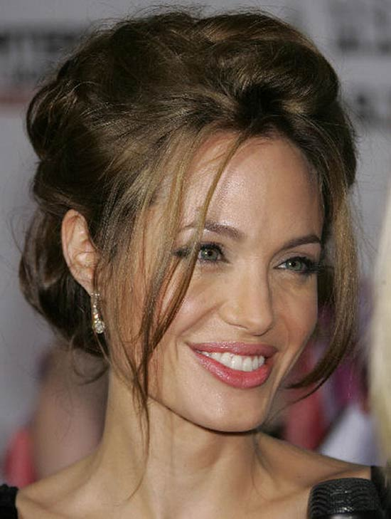 Angelina Jolie Updos for Short Hair
