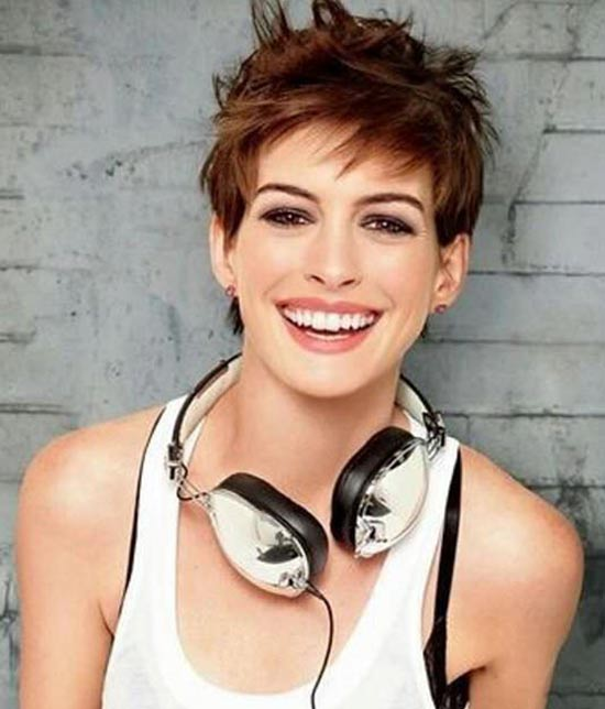 Anne Hathaway Edgy Haircuts