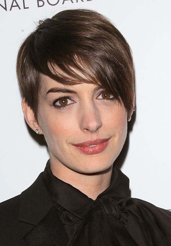 Anne Hathaway Longer Pixie Haircut