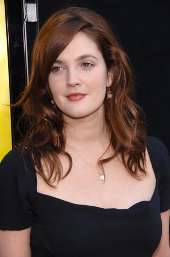 Draw Barrymore long-brown-hair-