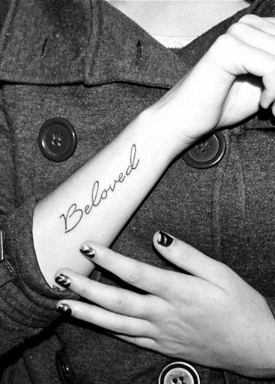 Beloved Tattoo on Arm