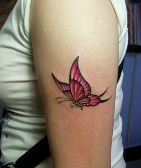 Butterfly Tattoo On Bicep