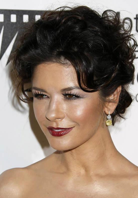 Catherine Zeta Updos for Short Hair