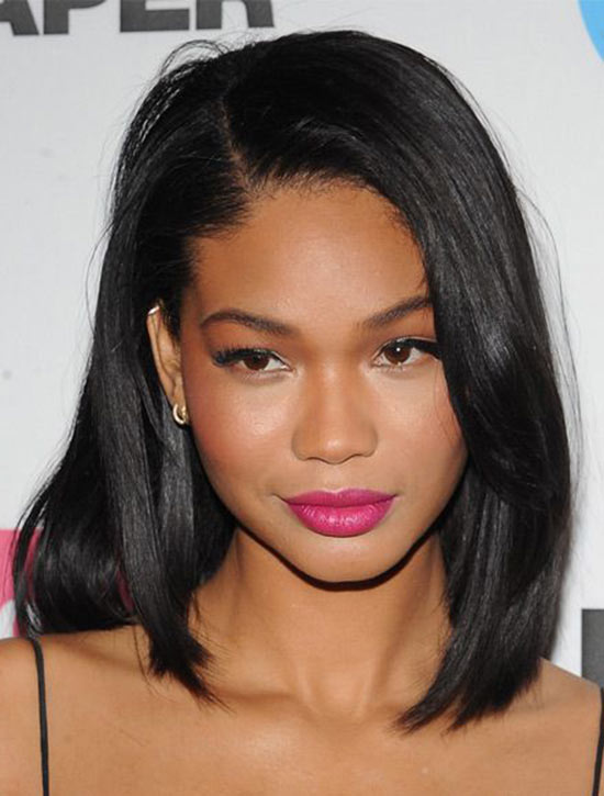 Chanel Iman Medium Straight Hairstyle