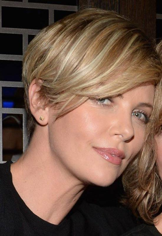 Charlize Theron Long Pixie Hairstyle