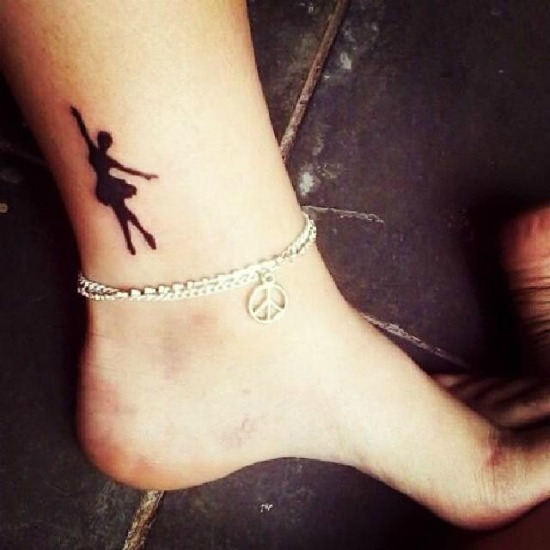 Dancing doll Tattoo on Ankle
