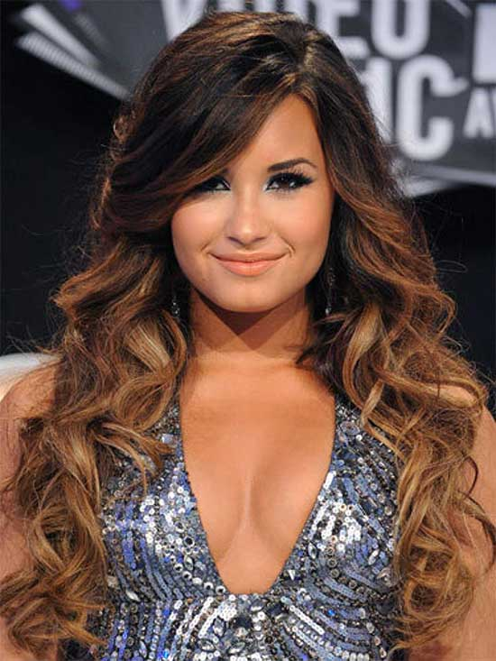 Demi Lotavo Long Curls Haircuts
