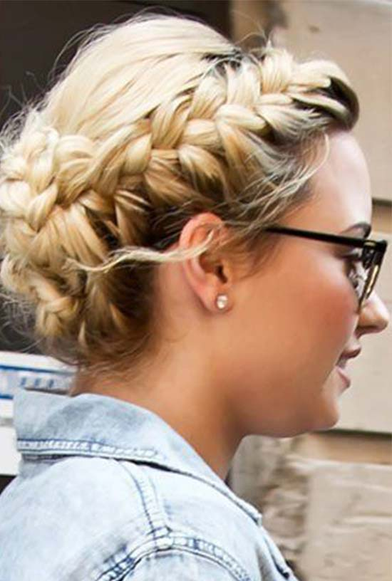 Demi Lotavo Milk Maid Braid