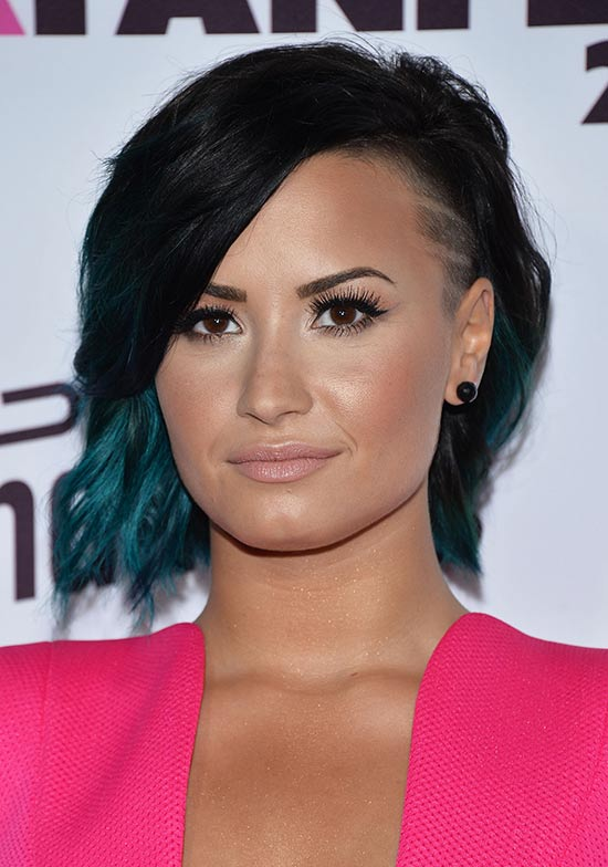 Demi Lovato Edgy Hairstyle