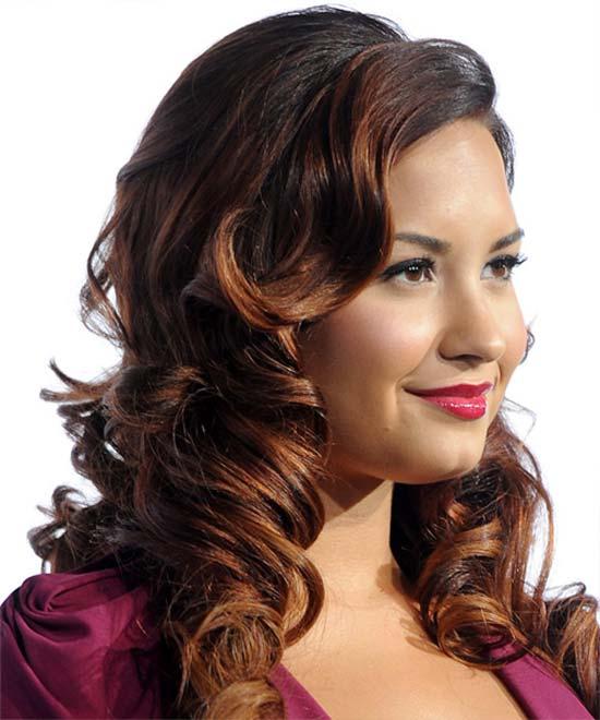 Demi Lovato Long Curly Formal
