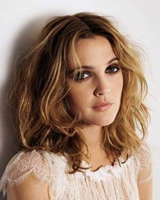 Drew Barrymore Blonde and Dark Brown Hair