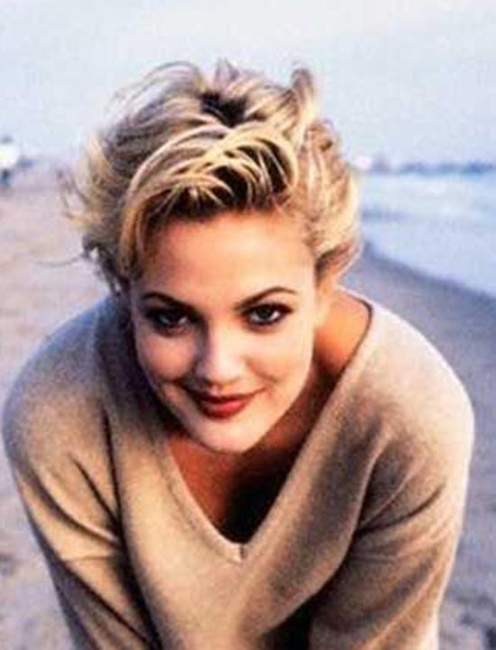 Drew Barrymore Cute-Short-Blonde-Pixie-Hairstyles