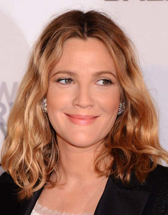 Drew Barrymore Medium Length Hairstyle