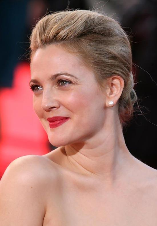 Drew Barrymore Updos for Short Hair