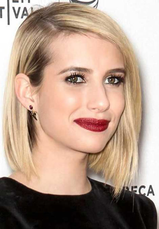 Emma Roberts hort Straight Hairstyles