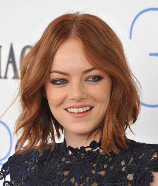 Emma Stone Short Brown Hairstyles